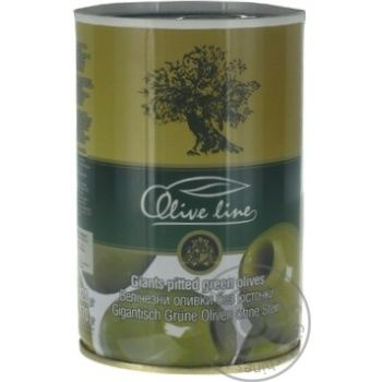 Оливки Olive line огромные без косточки 420г