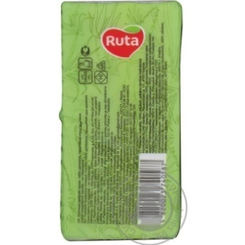 Paper handkerchiefs Ruta white with aloe aroma 3-ply 10pcs - buy, prices for Novus - image 4