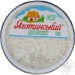 Сир Яготинський Домашній кисломолочний нежирний 0% 200г пластиковий стакан Україна