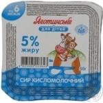 Творог Яготинское для детей с 6 месяцев 5% 50г пластиковый стакан Украина