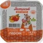 Паста творожная Яготинское для детей персик с 6 месяцев 4.2% 50г пластиковый стакан Украина