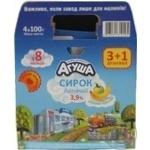 Творожок Агуша детский яблоко-банан с 8 месяцев 3.9% 4х100г