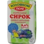 Сирок Волошкове поле солодкий з родзинками нетермізований 8% 100г Україна