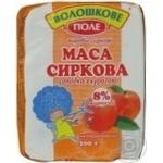 Творожная масса Волошкове поле сладкая с курагой нетермизированная 8% 200г Украина