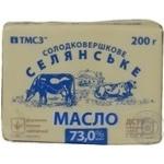 Масло сливочное крестьянское ТМ «ТМСЗ», 73% 200г