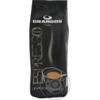 Кофе Грандос Дабл Эспрессо натуральный жареный в зернах 250г Германия