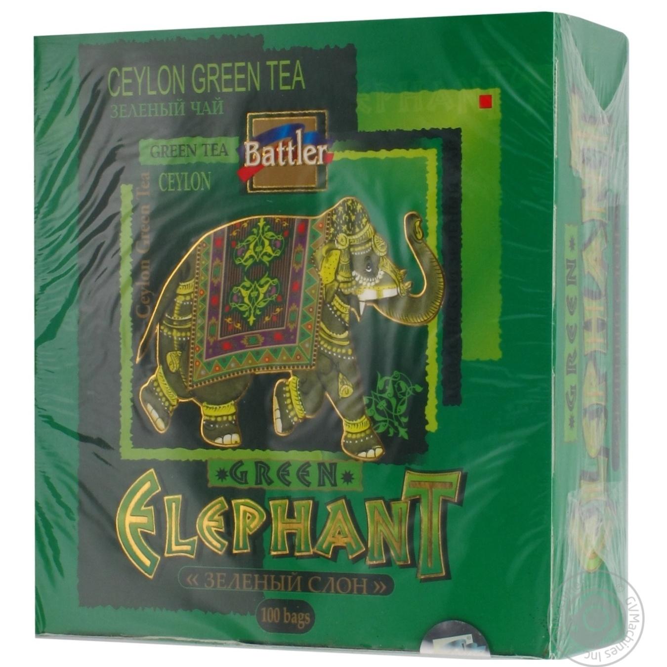 зелёный слон картинка