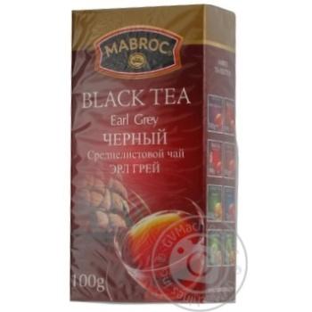 Чай Mabroc Эрл Грей черный среднелистовой 100г