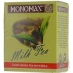 Зелений чай Мономах Мілк Ті китайський з молоком 90г Україна