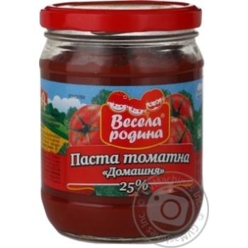 Паста томатная Веселая родына Домашний 480г стеклянная банка Украина