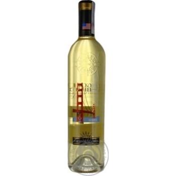 Вино белое Калифорния Голден Бридж натуральное виноградное полусухое 10.5% стеклянная бутылка 750мл Франция