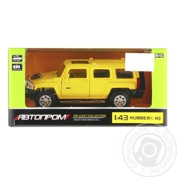 Машинка Автопром Hummer H3 металева 67301 - купити, ціни на Таврія В - фото 1