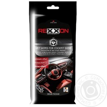Серветки Rexxon вологі для салону 25шт