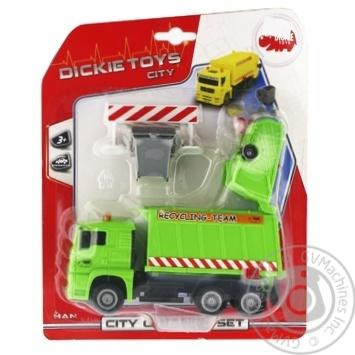 Іграшка Автомобіль Сміттєвоз з контейнером та огорожею 22 см 3 в