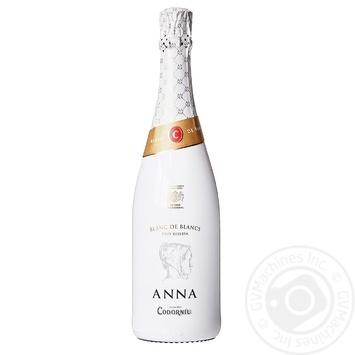 Вино игристое Codorniu Anna Blanc de blancs Brut белое брют 11,5% 0,75л