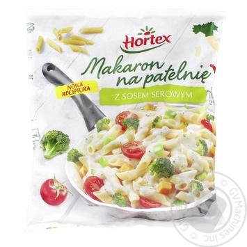 Макарони для смаження Hortex з сирним соусом замороженi 450г