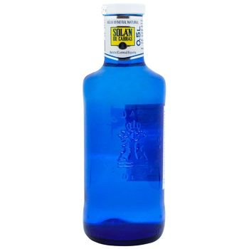 Water Solan non-carbonated 500ml glass bottle Spain