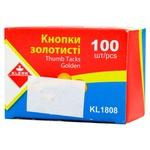 Кнопки Klerk золотистые 100шт KL1808