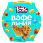 Торт Tarta Вафельний згущене молоко, карамель + арахіс 360г