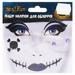 Yes! Fun Set of Stickers for Face Mystical Halloween