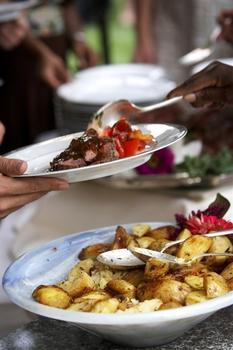 Рагу с жареным картофелем