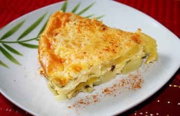 Сырная картофельная запеканка