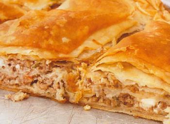 Грецький пиріг з м'ясом