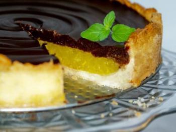 Шоколадный торт с апельсиновым желе