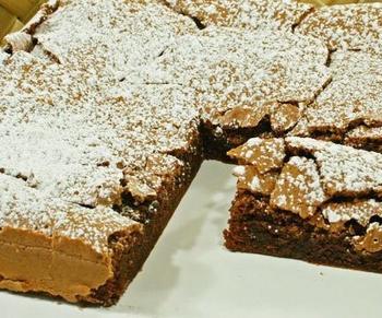 Шоколадный пирог с хрустящей корочкой