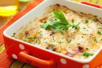 Грибы, запеченные в сметане с сыром