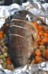 Запеченная в фольге рыба