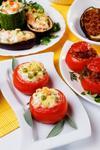 Помидоры с картофельным салатом