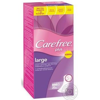 Pads Carefree Plus for women regular 20pcs