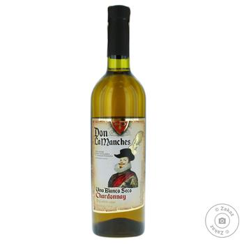 Вино Don La Manches Chardonnay белое сухое 9-13% 0,75л