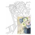 Rosa Start Still Life #26 Canvas on Cardboard with an Outline 30х40cm