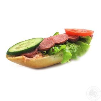 Багет с колбасой весовой - купить, цены на Ашан - фото 1