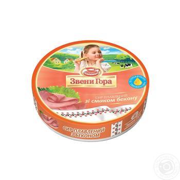 Сир Звени Гора плавлений зі смаком бекону порційний 50% 140г - купити, ціни на Ашан - фото 2