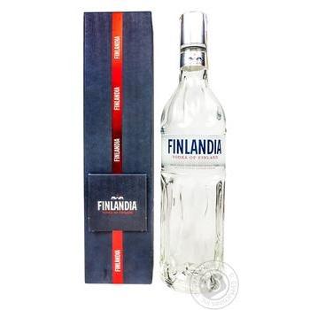 Горілка 40% 0,7л Finlandia у подарунковій упаковці з листівкою
