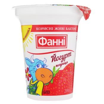 Йогурт Фанні з наповнювачем полуниця 1,5% 280г