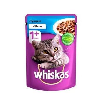 Корм для взрослых котов Whiskas с тунцом в желе 100г - купить, цены на Таврия В - фото 1