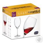 Набір бокалів Bohemia Sophia для вина 490мл 6шт