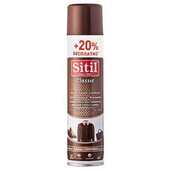 Спрей Sitil Відновлювач кольору для замші та нубуку коричневий 300мл - купити, ціни на Varus - фото 1