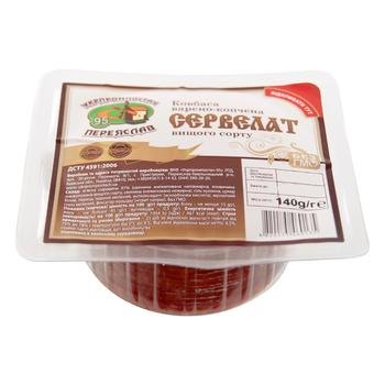 Ukrprompostach Cervelat smoked-boiled sausage salami 140g - buy, prices for Auchan - photo 1