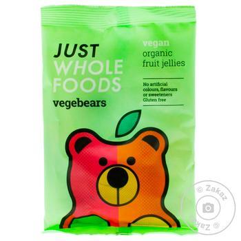 Конфеты Just Wholefoods VegeBear's желейные фруктовые органические 100г - купить, цены на МегаМаркет - фото 1