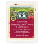 Сыр Wensleydale Creamery Yorkshire с клюквой 43-48% 150г