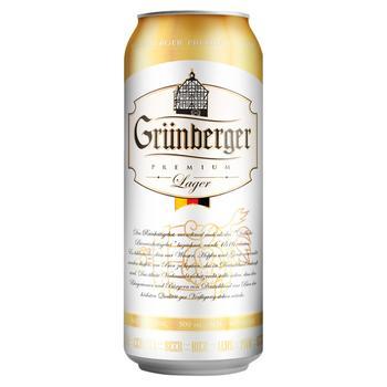 Grunberger Lager Light Foltered Beer 5% 0.5l