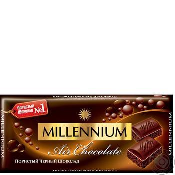 Шоколад Millennium чорний пористий 90г