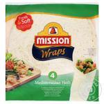 Тортилья Mission Foods Wraps Середземноморські трави 4шт. 245г