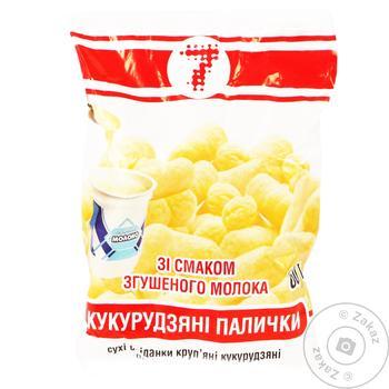 Палочки кукурузные Семерка со вкусом сгущенного молока 60г