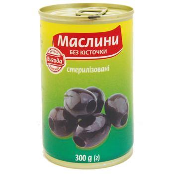 Vygoda Pitted Black Olives 300g